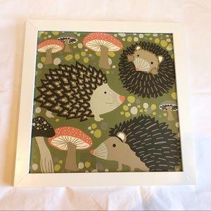 Hedgehog Framed Wall Art